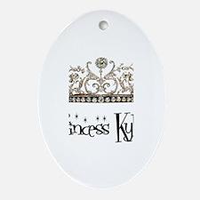 Princess Kylee Oval Ornament