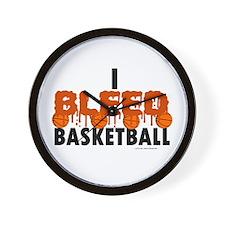 I Bleed Basketball Wall Clock