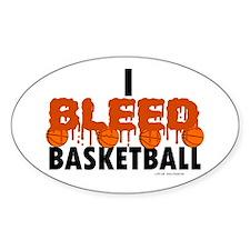 I Bleed Basketball Oval Decal