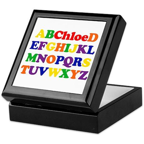 Chloe - Alphabet Keepsake Box