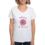 Daisy Maid of Honor Women's V-Neck T-Shirt