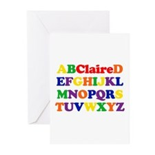 Claire - Alphabet Greeting Cards (Pk of 10)