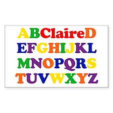 Claire - Alphabet Rectangle Decal