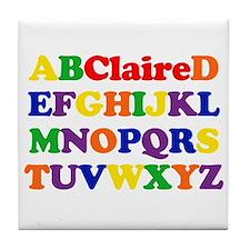 Claire - Alphabet Tile Coaster