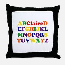 Claire - Alphabet Throw Pillow