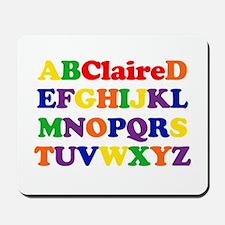 Claire - Alphabet Mousepad