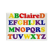 Claire - Alphabet Rectangle Magnet