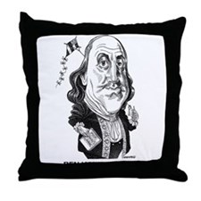 Benjamin Franklin Throw Pillow