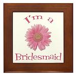 Daisy Bridesmaid Framed Tile