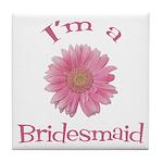 Daisy Bridesmaid Tile Coaster