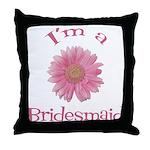 Daisy Bridesmaid Throw Pillow