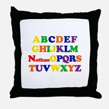 Nathan - Alphabet Throw Pillow
