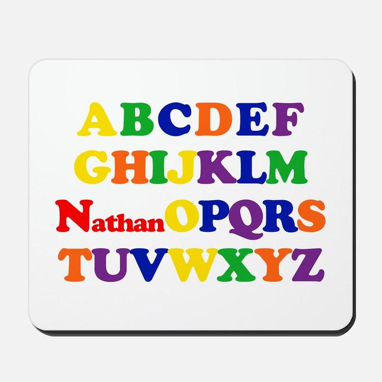 Nathan - Alphabet Mousepad