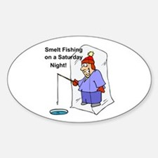 Smelt Fishing Oval Decal