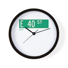 40th Street in NY Wall Clock