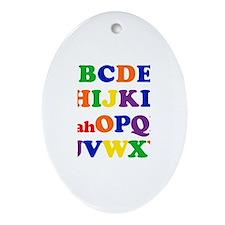 Noah - Alphabet Oval Ornament