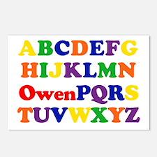 Owen - Alphabet Postcards (Package of 8)
