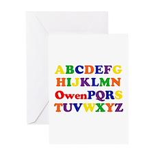 Owen - Alphabet Greeting Card