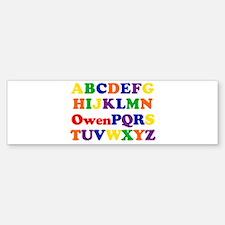 Owen - Alphabet Bumper Bumper Bumper Sticker