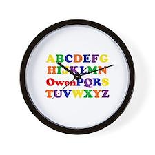 Owen - Alphabet Wall Clock