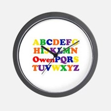 Owen - Alphabet Wall Clock