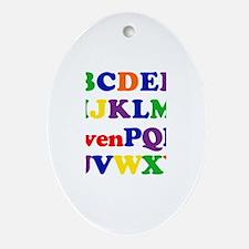 Owen - Alphabet Oval Ornament