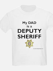 """My Dad Is A Deputy Sheriff"" Kids T-Shir"