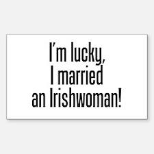 Married an Irishwoman Rectangle Decal