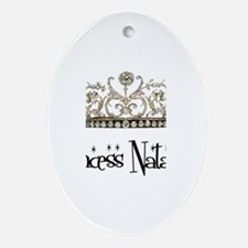 Princess Natasha Oval Ornament