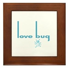 Love Bug in Pink Designs Framed Tile