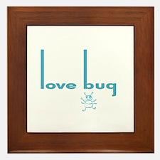 Love Bug in Pink Designs Framed Tile