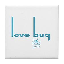 Love Bug in Pink Designs Tile Coaster