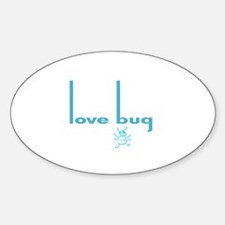 Love Bug in Pink Designs Oval Decal