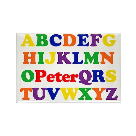 Peter - Alphabet Rectangle Magnet (10 pack)