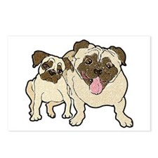 Daddy Pug Postcards (Package of 8)