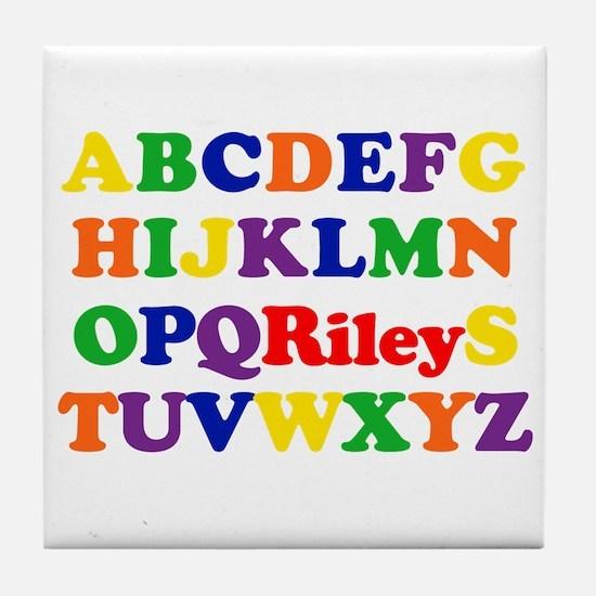 Riley - Alphabet Tile Coaster