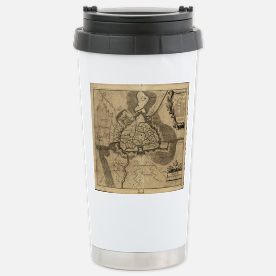 Vintage Map of Ghent Be Stainless Steel Travel Mug