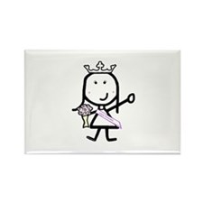 Girl & Pageant Rectangle Magnet