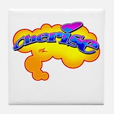 """Your Name Graffiti Gear"" Cherise -  Tile Coaster"
