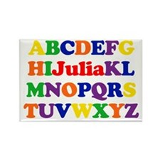 Julia - Alphabet Rectangle Magnet