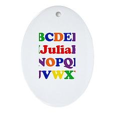 Julia - Alphabet Oval Ornament
