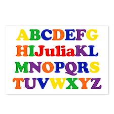 Julia - Alphabet Postcards (Package of 8)
