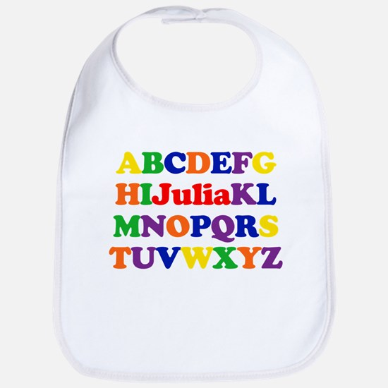 Julia - Alphabet Bib