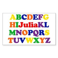 Julia - Alphabet Rectangle Decal