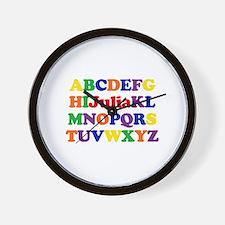 Julia - Alphabet Wall Clock