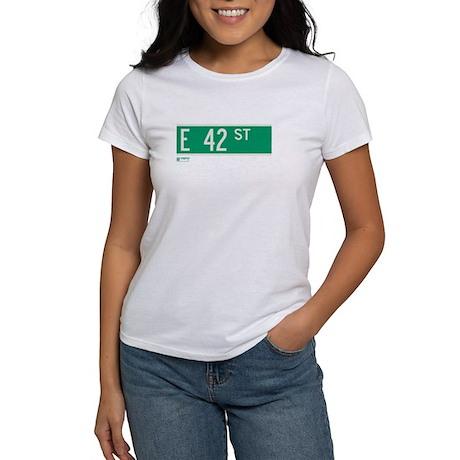 42nd Street in NY Women's T-Shirt