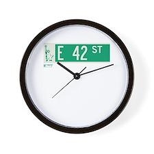 42nd Street in NY Wall Clock