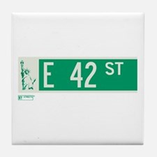 42nd Street in NY Tile Coaster