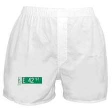 42nd Street in NY Boxer Shorts