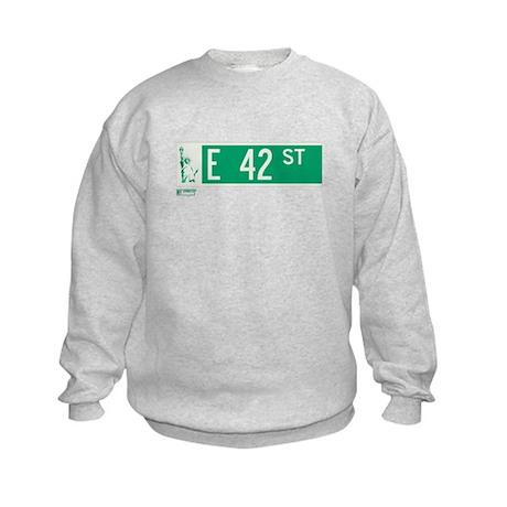 42nd Street in NY Kids Sweatshirt